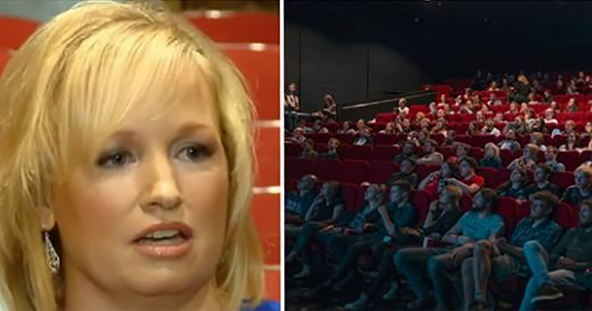 Mom asks rude teens to be quiet in movie theater – later ...